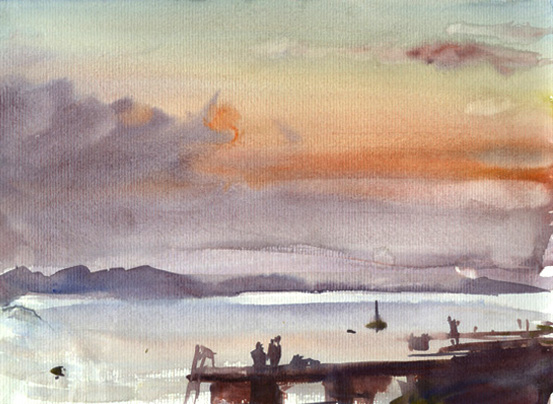 Watercolor Landscape Thread
