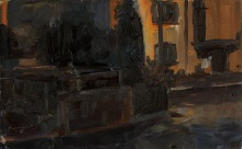Street at night - study