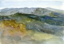 Watercolor on paper, March 2012