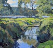 By a pond